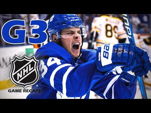 Boston Bruins vs Toronto Maple Leafs. 2018 NHL Playoffs. Round 1. Game 3. 04.16.2018 (HD)