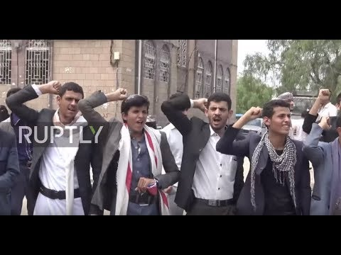 Yemen: Students and academics protest arrival of foreign military forces