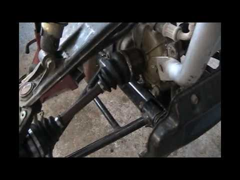 Part2 Yamaha Wolverine 350 4X4 CV Joint Change and