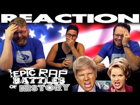 Donald Trump vs Hillary Clinton Epic Rap Battles of History REACTION!!