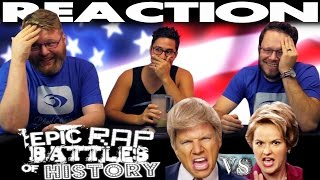 Donald Trump vs Hillary Clinton Epic Rap Battles of History REACTION!!