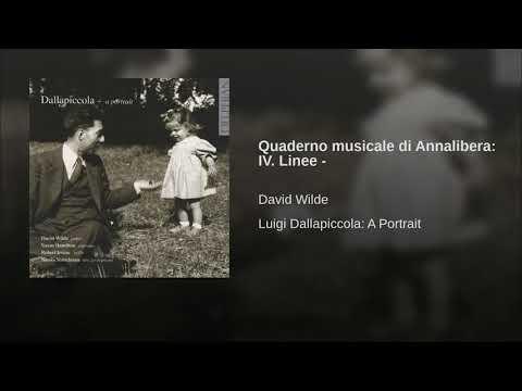 Quaderno musicale di Annalibera: IV. Linee -