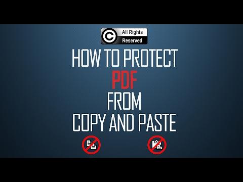 Come proteggere un file PDF dal copia / incolla