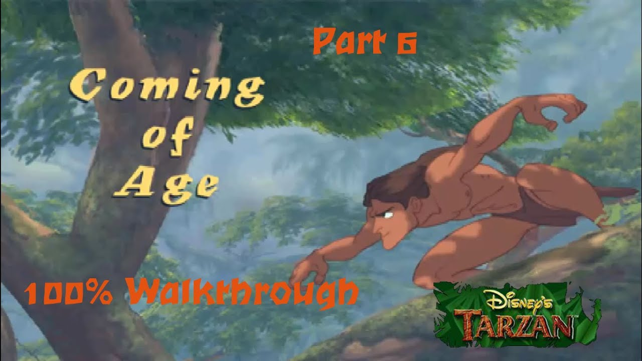 Disney's Tarzan (PS1) 100% Walkthrough – Part 6 – Level 5: Coming of Age (Hard)