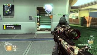 "First Black Ops 2 QUAD Sniper Kill! ""DSR 50"" (BO2 Multiplayer Gameplay)"