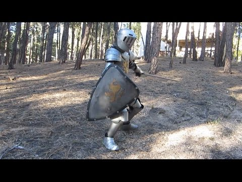 Kid's Medieval Knight Homemade Halloween Costume