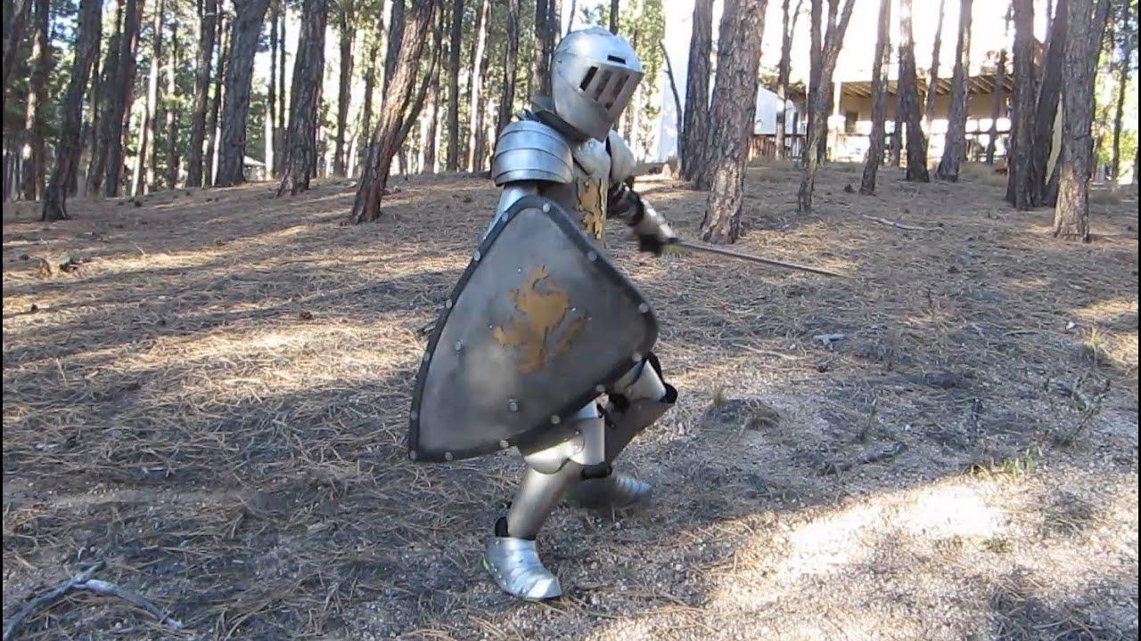Kidu0027s Medieval Knight Homemade Halloween Costume & Kidu0027s Medieval Knight Homemade Halloween Costume - YouTube