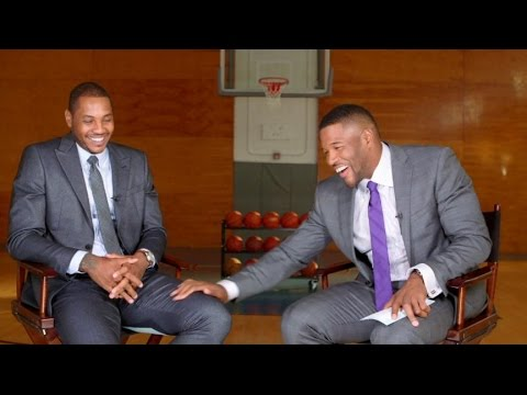 Carmelo Anthony, Michael Strahan Go One-on-One