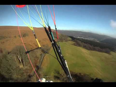 paragliding garth hill. south wales gopro.paraventure.co/uk