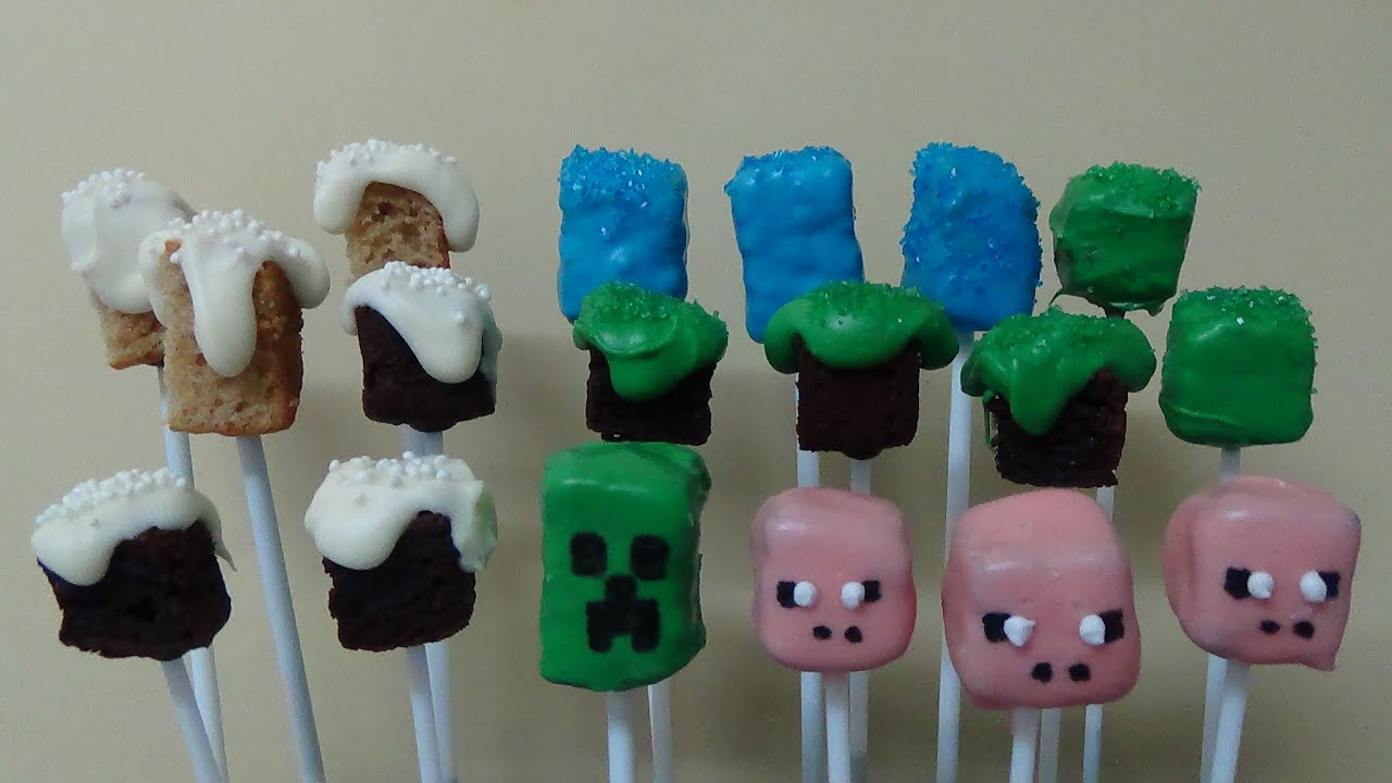 Minecraft Cake Pops Youtube