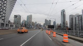 Downtown Vancouver Canada. Driving in the City Centre 2020.