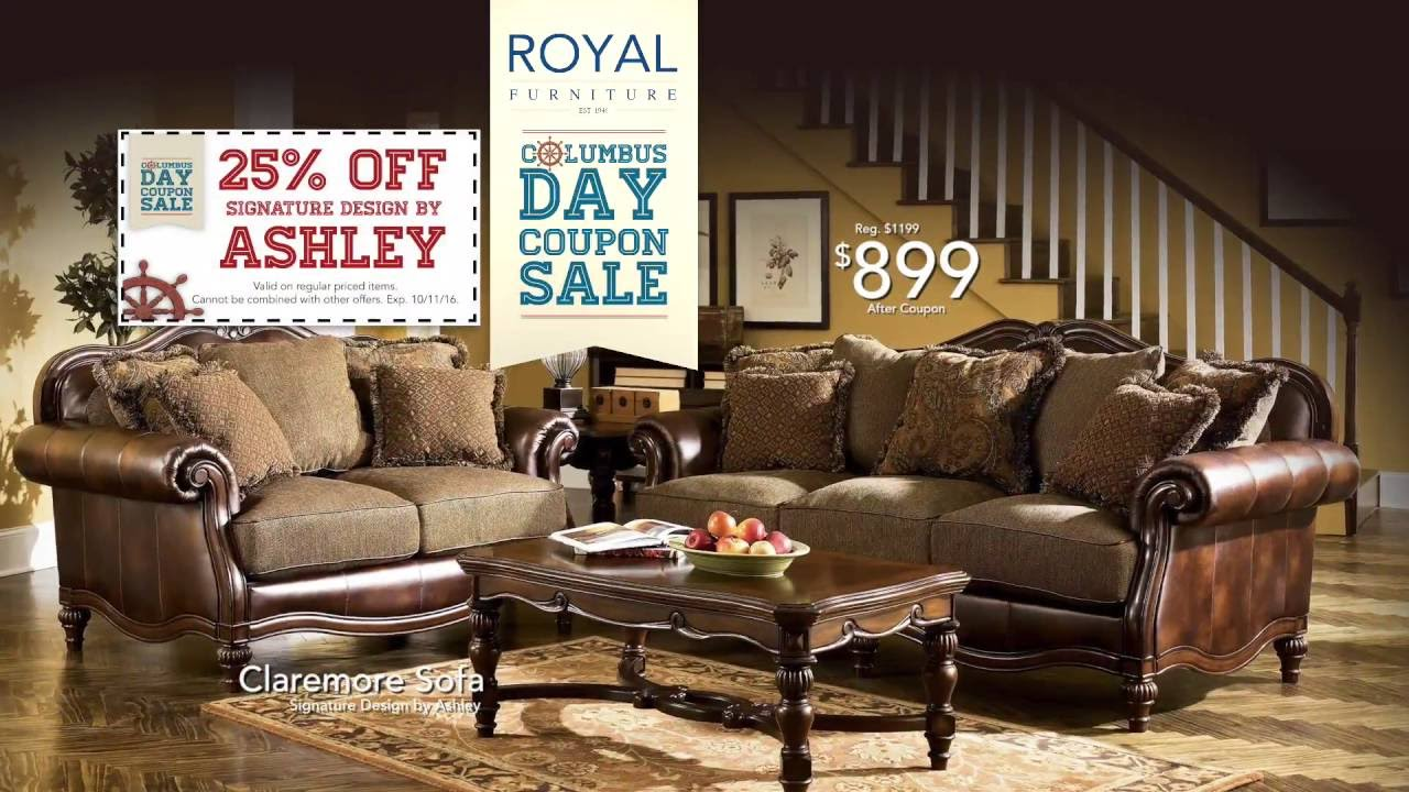 columbus day coupon sale at royal furniture youtube. Black Bedroom Furniture Sets. Home Design Ideas