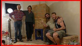 Batch Box Rocket Mass Heater Build with Peter Van Den Berg - Full build timelapse