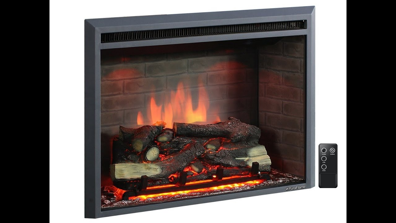 Puraflame Western 33 Inch Electric Fireplace Insert Is