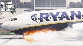 GTA 5 - Ryanair 737 Landing Gear Failure at LSIA (HD)
