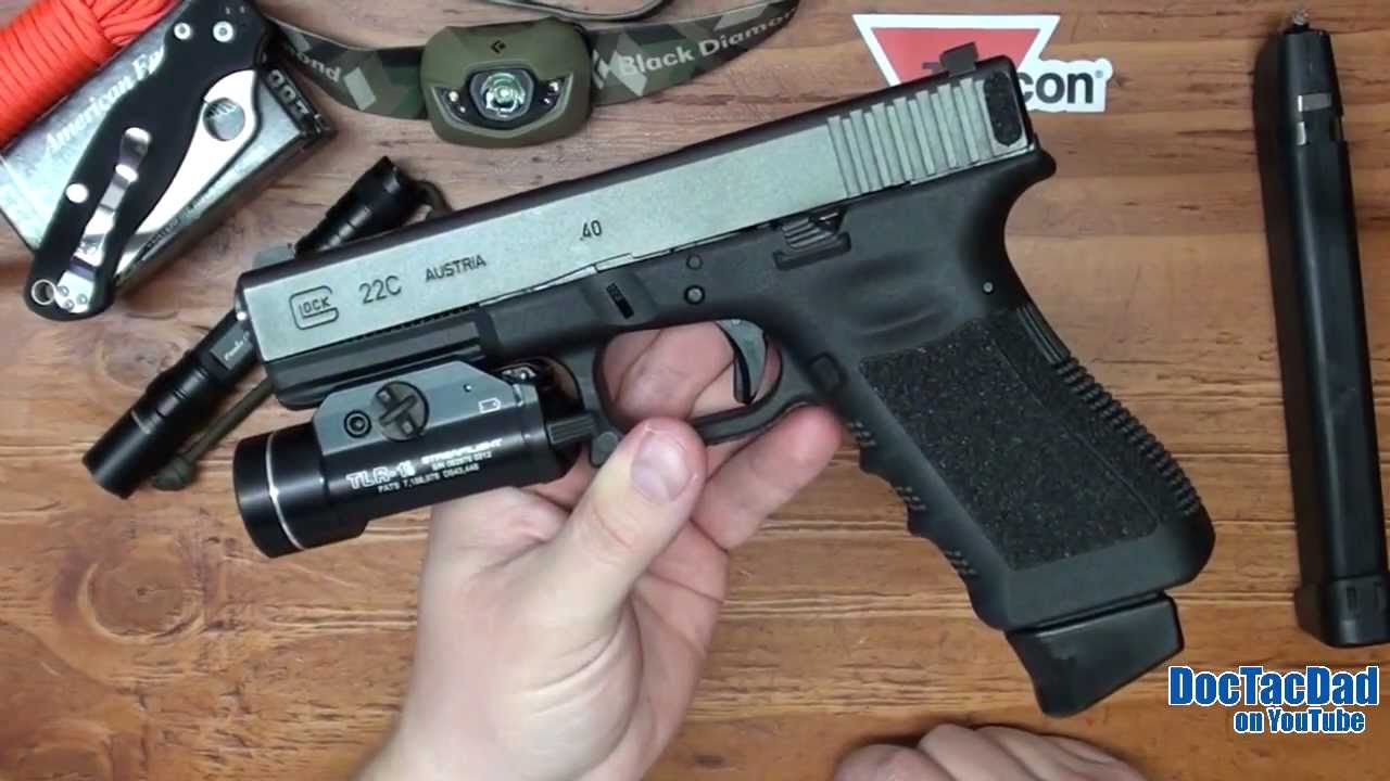 Project Glock Streamlight Tlr 1s Weapons Light Youtube