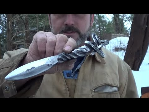 Blacksmithing Forging A Star Handled Railroad Spike