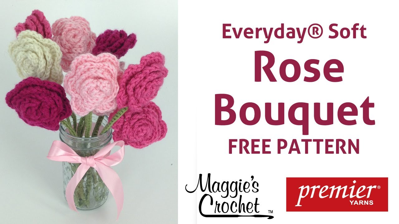 Deborah Norville Yarn Free Crochet Patterns : Rose Bouquet Free Crochet Pattern with Deborah Norville ...
