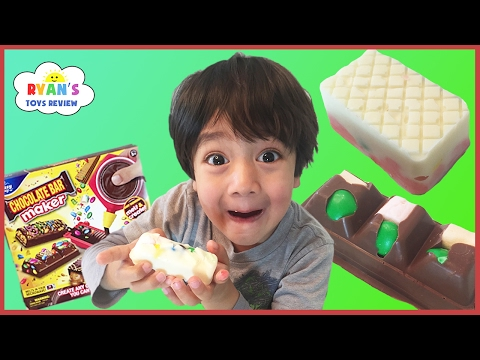 Thumbnail: CHOCOLATE CANDY BAR MAKER TOY DIY sweet treats for kids taste test Real Food Marshmallow