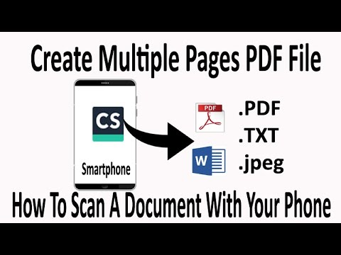 How to create multiple pages PDF file in SmartPhone | Use CamScanner to create multi-page documents