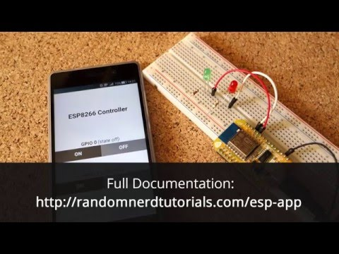 ESP8266 Android App (created with MIT App Inventor) - Demo