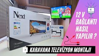 Karavanda 12 V Televizyon Montajı ve Elektrik Bağlantısı Nasıl Yapılır? | Next YE-22020 KT 22''  TV