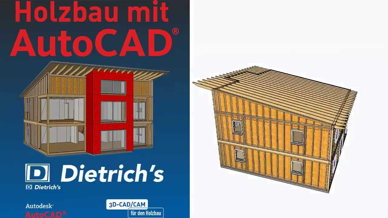 dietrichs a holzbau f r autocad youtube. Black Bedroom Furniture Sets. Home Design Ideas