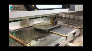 cnc stone cutting and polishing machine with line atc tools
