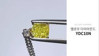 GIA 옐로우 다이아몬드 9부목걸이 YDC10N