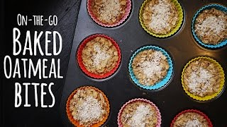 Baked Oatmeal Bites: On-the-go Healthy Breakfast Recipe | One Hungry Mama