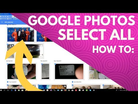 Google photos select all - How to