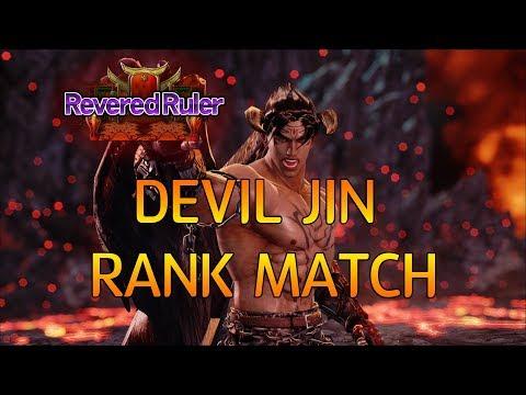 -Devil Jin vs Mishimas (Jin, Devil Jin) 데빌진 리비어드 룰러 랭크매치 (TEKKEN 7 - CherryBerryMango's Devil Jin)