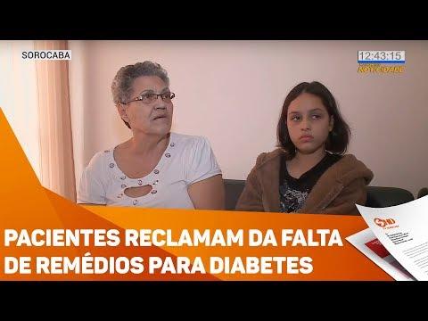 Pacientes reclamam da falta de remédios para diabetes - TV SOROCABA/SBT