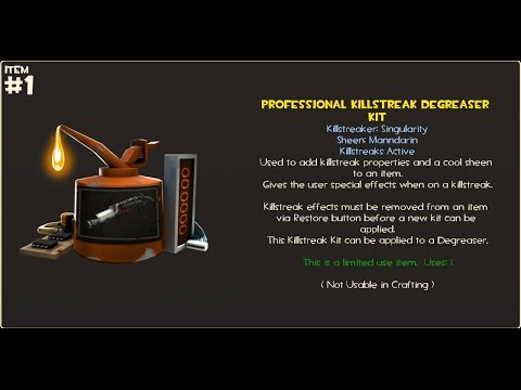 TF2 How To Craft Professional Killstreak Kit Simplified Singularity  Manndarin MvM