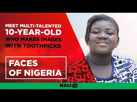 Faces of Nigeria: Meet multi-talented 10-year-old who makes images with toothpicks