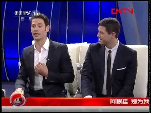 "Il Divo interview on CCTV-15 ""Life of Music""(音乐人生) [w/English subtitle] 20120318 Beijing"