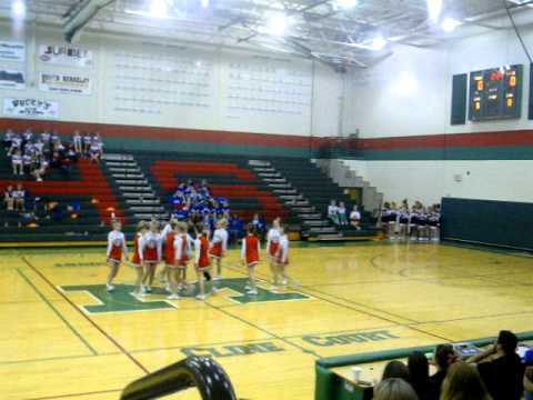 Musselman Middle Cheerleaders 2010 - 2011 competition dance.