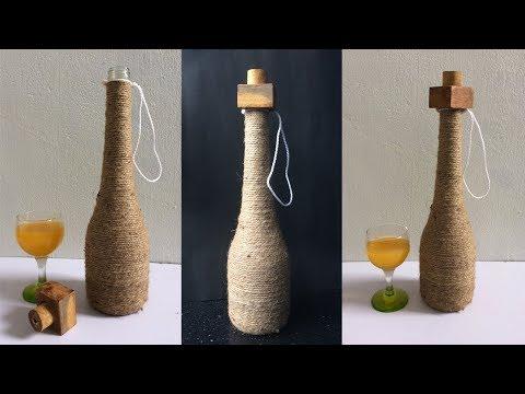 Best use of waste Glass bottle craft idea | Waste Bottle Craft | Wine Bottle | Reuse ideas | DotsDIY