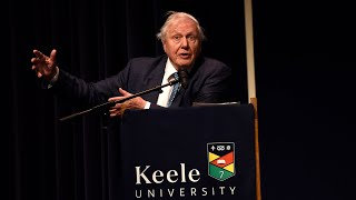 Sir David Attenborough at Keele - Lecture