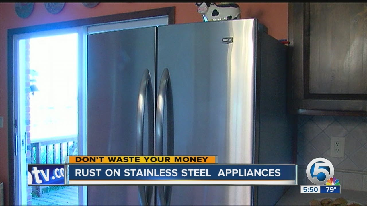 rust on stainless steel appliances youtube. Black Bedroom Furniture Sets. Home Design Ideas