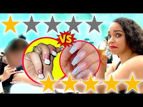 I WENT TO THE WORST REVIEWED NAIL SALON VS BEST REVIEWED NAIL SALON IN MY CITY LOS ANGELES
