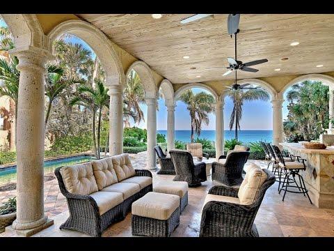 Mediterranean Oceanfront Estate In Vero Beach, Florida