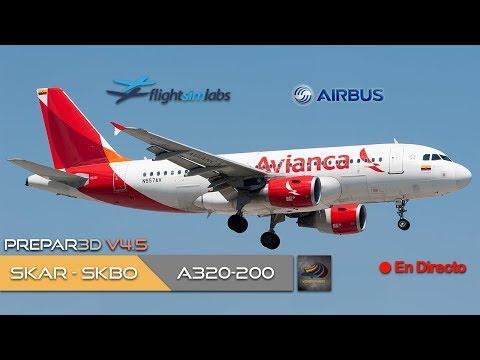 DIRECTO [P3Dv4.5] FSLabs A319-100 | SKAR - SKBO | IVAO (ESP/ENG)