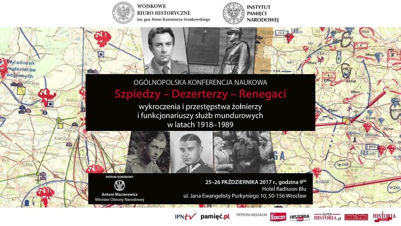 IPNtv: Szpiedzy – Dezerterzy – Renegaci. Zapowiedź transmisji ogólnopolskiej konferencji naukowej.