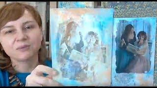 Способы трансфера распечатки фотографии в микс медиа декоре: видео урок Натальи Жуковой