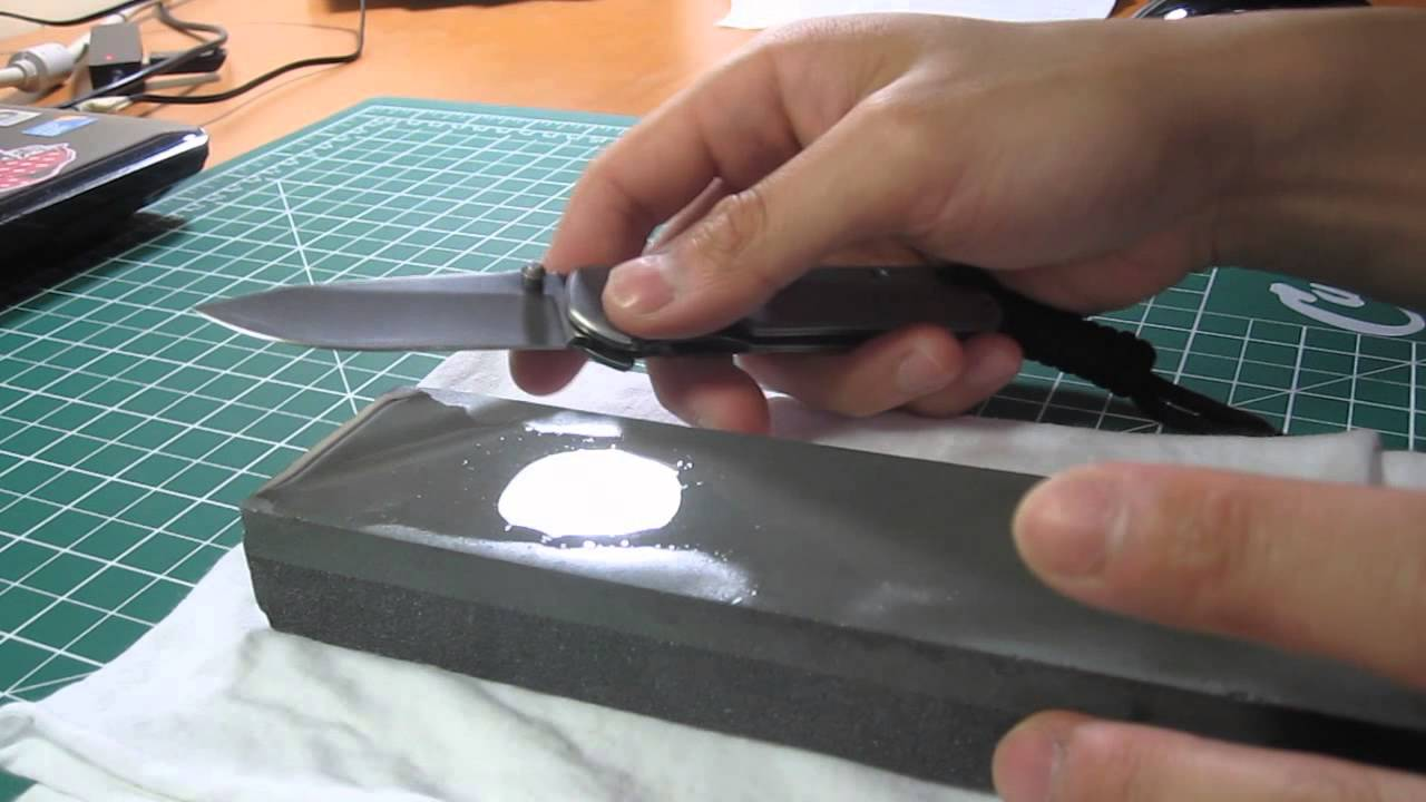 How to sharpen a folding knife youtube for How to hone marble