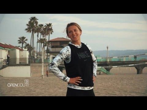 Victoria Azarenka's beach workout