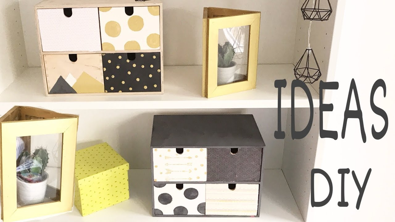 Diy 6 Ideas Y Trucos Para Decorar Facil Y Low Cost Youtube - Ideas-decoracion