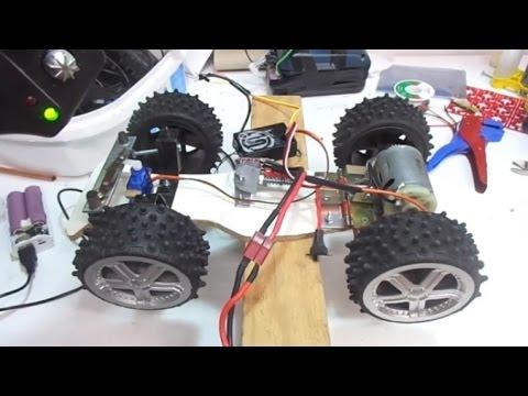 DIY RC Truck - Super Speed - Big DC motor Car / ev yapımı oyuncak kamyon!