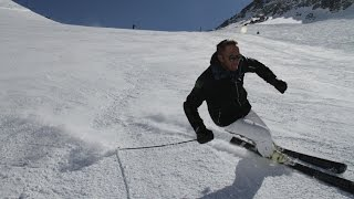 Bode Miller hitting the slopes with Bomber Ski and Vuarnet